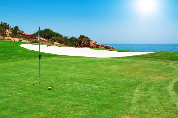 Playing golf in the Algarve, Portugal