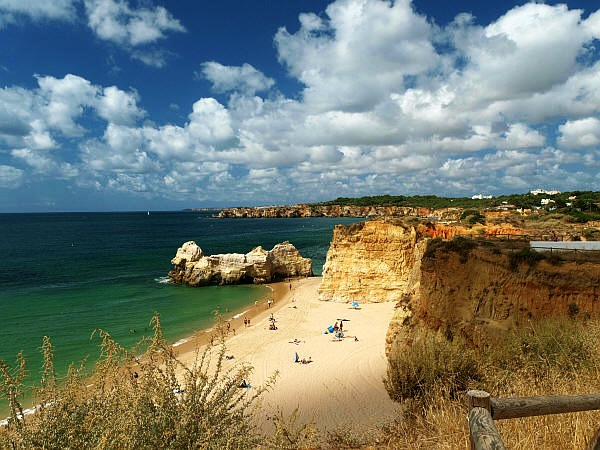 The beach from Ferragudo, Algarve